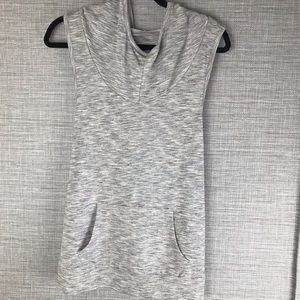 Mossimo Gray Hoodie Tank Top Size L